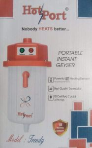 Hot Port Auto Cut Off Portable Instant Hot Water Geyser for Multipurpose 1 Litre (Multicolor)