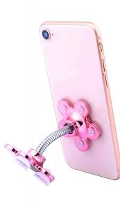 GGS Rotatable Multi Angle Double Sided Phone Holder VIP Stand - Gold/Pink