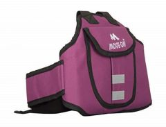 ove On Child Safety Belt for Children When Travelling on Motorbikes and Scooters. Belts Secures The Child to The Parent. Soft and Cushion Based Belt -LK Plain (46 MOCRAFT Pink)