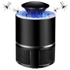 Khodiyarfashion Photocatalyst Mini Home Electronic Fly Mosquito Killer LED Lamps with USB (Black)