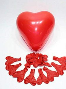 Hi84 Red Heart Shape Latex Balloons for Baby Shower | Birthday | Anniversary Decoration (Pack of 25 Pieces)