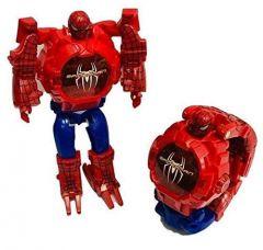WON Avengers Super Hero Transformer Robot Toy Convert into Digital Wrist Watch for Kids, Avengers Robot Deformation Watch