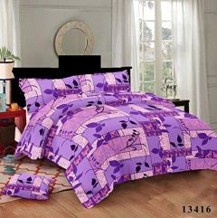 Hydes 100% Pure Cotton Bedsheet with 2 Pillow Covers - King Size 7.5 Feet by 9 Feet 186 TC for Double Bed Sheet - Purple