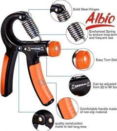 Albio Adjustable Hand Gripper - Exerciser Strengthener Hand Exerciser For Gym/Strong Wrist/Finger & Forearms