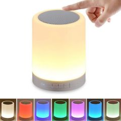 RSFuture LED Touch Lamp Bluetooth Speaker, Wireless HiFi Speaker Light, USB Rechargeable Portable with Smart Touch, Pen Drive, SD Card, AUX and Mic. Compatible with All Bluetooth Devices
