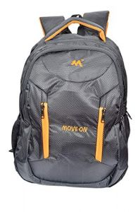Move On Laptop Bag 38-Litre Waterproof Backpack (1 Black Orange)