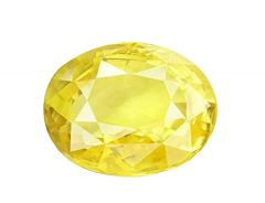 Jewelzon Certfied Yellow Sapphire (Pukhraj) 9.25 to 9.80 Ratti Birthstone Stone | Certified | Astrological Gemstone | Natural
