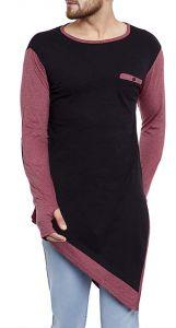 Fashion Gallery Men's Round Neck Cotton Plain Bottom Trending T-shirt (Large)