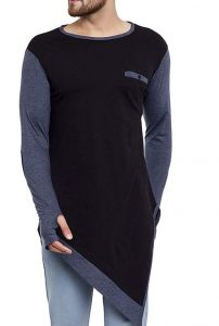 Fashion Gallery Men's Round Neck Tshirt|Men's Cotton Plain T-shirt|Bottom Trending T-shirt-M-Black/CoolGrey (Medium)