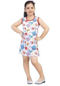Chocoberry - Self Printed Girls Kids Short Dress Aline Frock Summer Dress Super Soft Dress