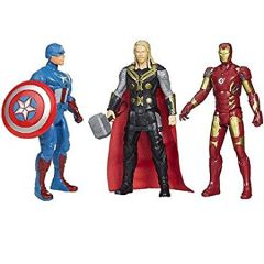 WON Avengers Toys Set - 3 in 1 Set Toys - 3 Action Hero Collection (Assorted Design and Figures)