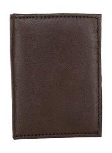 ASPENLEATHER Brown Genuine Leather Credit Card Holder For Men