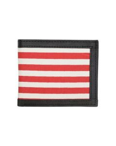 ASPENLEATHER Genuine Canvas Leather Red Wallet For Men