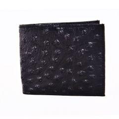 ASPENLEATHER Bi-Fold Stylish Black Embossed Leather Wallet For Men With Side Flap