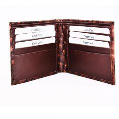 ASPENLEATHER Bi-Fold Embossed Genuine Leather Wallet For Men With Side Flap