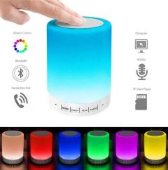 APPACKER Touch lamp Light Portable Wireless LED Bluetooth Speaker Wireless HiFi Speaker Light, USB Rechargeable Portable with TWS/TF Card/AUX-in Supported (300 gms)