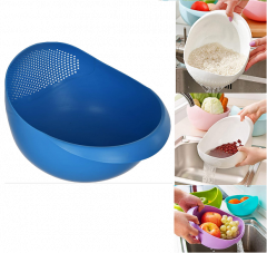 Krivish Multicolor Plastic Colander Rice, Fruits, Vegetables, Pasta, Noodles Cooking Washing Bowl Draining Strainer Basket