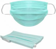 Boxerdoll 3-Ply Disposable Surgical Mask with Melt Blown Fabric Layer (Free Size) | (Pack of 50)