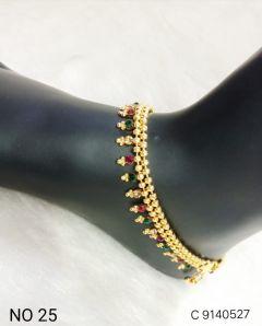 Designer Anklets Ethnic Wedding Fashion Jewelry for Women (Set of 1 | Free Size)