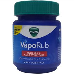 Vicks Gives Relief from Sore Throat or Cough Vaporub Menthol, Camphor and Eucalyptus Oil (110 ml) | (Pack of 1)