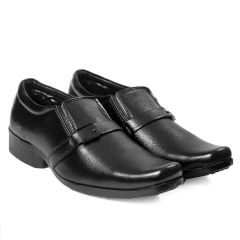 Bxxy Men's Faux Leather Office Wear Moccasin Formal Slip-on Shoes (Pack of 1)