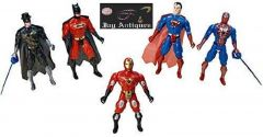 5 In 1 Avengers Twist And Move Action Figure Set With Projection Light (5 In 1 Avengers)
