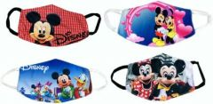 GOOFFI Fashionable 6-10 Cloth Mask Free Size (Pack of 4)