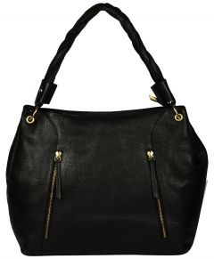 Women's Sold Black Baguette Hand bag