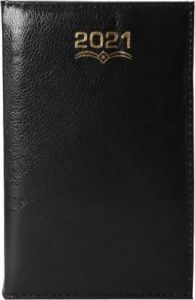 Toss 2021 A5 Diary Ruled 330 Pages (Black) (6002-COM) (Pack Of 1)