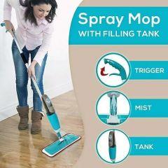 Healthy Spray Mop Plastic, Microfiber
