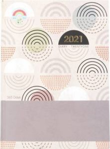 Toss 2021 A5 Diary Ruled 330 Pages (Black & Red) (6005) (Pack Of 1)