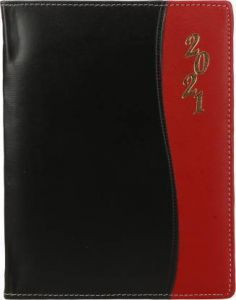 Toss 2021 B5 & 330 Pages Ruled Diary (Black & Red) (6006) (Pack Of 1)