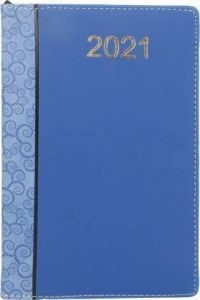 Toss 2021 A5 Diary Ruled 365 Pages (Blue) (6008) (Pack Of 1)