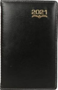 Toss 2021 A5 Diary Ruled 365 Pages For Personal (Black) (6009) (Pack OF 1)