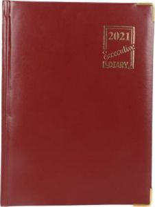 Toss 2021 A5 Diary Ruled 365 Pages (Brown) (6009-Brown) (Pack Of 1)