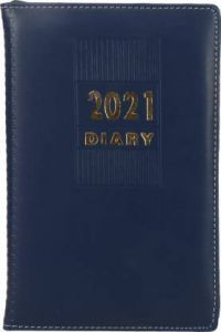 Toss 2021 A5 Diary Ruled 330 Pages For Office & Personal (Blue) (Pack OF 1)