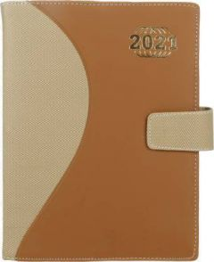Toss 2021 B5 & 365 Pages Ruled Diary (Brown) (6024-Brown)