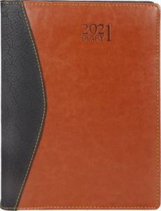 Toss Half-Changer 2021 B5 Diary Ruled 330 Pages Best For Gift (Brown) (Pack Of 1)