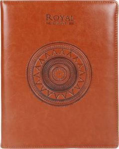 Toss Changer Round 2021 B5 Diary Ruled 330 Pages Suitable For Travel, Office & Personal (Brown)