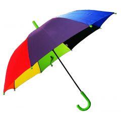REAL STAR Rainbow Umbrella for Sun UV Protection and Rainy Season for Men, Women and Kids |Green Handle