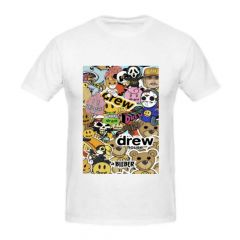 Evergreen Collection Casual White Justin Bieber Drew T-Shirts for Girls