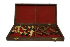 Collectible Folding Hand Carved Wood | Wooden Chess Game 16X16 inches Board Set with Wooden Pieces