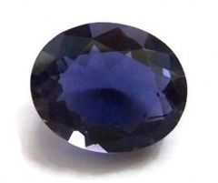 Jewelzon Certfied Iolite (Neeli) 3.25 to 3.80 Ratti Birthstone Stone   Certified   Astrological Gemstone   Natural