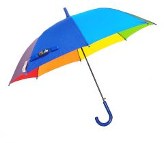 Real Star Rainbow Umbrella for Sun UV Protection and Rainy Season for Men, Women and Kids (Blue Handle)