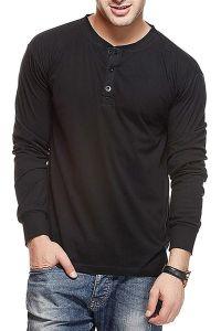 Fashion Gallery Men's Cotton Tshirt|Tshirts for Men Full Sleeve|Henley Multi Tshirts