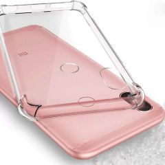 Ankirant Flexible Rubber Soft Shockproof Back Case Cover for Xiaomi Mi Redmi (Note 5 Pro, Transparent)