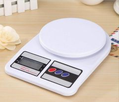 Nilkanth Fashion Electronic Digital 10 Kg Weight Scale Kitchen Weight Scale Machine Measure for Measuring Fruits,Spice,Food,Vegetable (White)