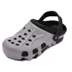 SVAAR Durable Grey and Black Clogs Shoes for Men