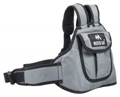 Move On Kid's 2-Wheeler Front Standing and Sitting Behind Safety Belt (Grey)