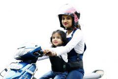 Kidsafe Two Wheeler Child Safety Seat Belt, Cool Plain Red
